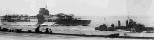 German battleship Gneisenau - HMS Glorious photographed in May 1940 operating off Norway