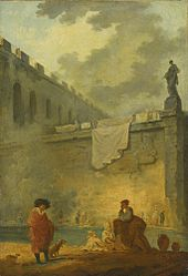 HUBERT ROBERT PARIS 1733 - 1808 FIGURES AT THE WATERSIDE.jpg