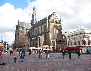 "Haarlem - Grote Kerk (""Great Church"") on the Grote Markt, Haarlem's central square"