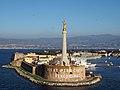 Hafeneinfahrt Mariendenkmal@Fort San Salvatore Messina 20171018 02.jpg