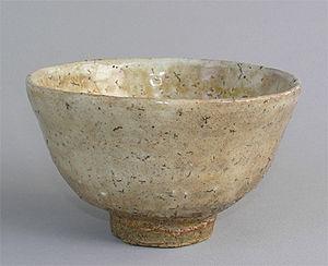 Hagi ware - Hagi ware tea bowl (chawan), by Tamamura Shogetsu, 20th century