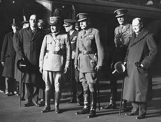 Haig and Churchill, possibly France, during or just after World War I (4687880663)