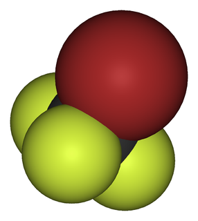 Bromofluorocarbon hydrocarbon derivative that contains only carbon, bromine and fluorine