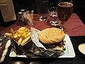 Hamburger at restaurant The Happy Red Onion.jpg