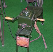 Hand-driven electric generator for a radio station (Dubendorf museum of the military aviation)
