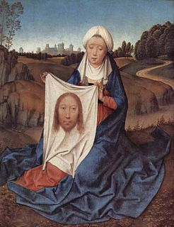 Veil of Veronica sweat cloth relic of St. Veronica