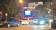 Hanukkah sign Nicosia Republic of Cyprus