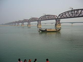Die wichtigste Messstelle am untersten Ganges (Padma): die Hardinge-Brücke