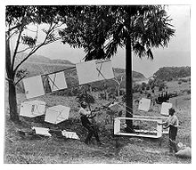 1894 kite demonstration at Stanwell Park, Australia