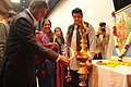 Harish chandra burnwal and gajendra singh chauhan lit the diya.jpg
