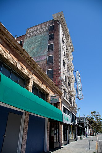 Apartment hotel - The Harrison Hotel, an SRO hotel in Oakland, California.