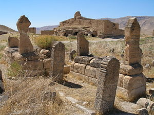 Hasankeyf - View of the Upper Town, also called the Citadel/Castle