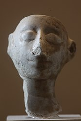 Head of a statuette