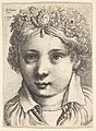 Head of a young girl wearing a jeweled headdress MET DP823785.jpg