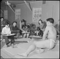 Heart Mountain Relocation Center, Heart Mountain, Wyoming. Benji Okuda instructing a life class, an . . . - NARA - 539164.tif