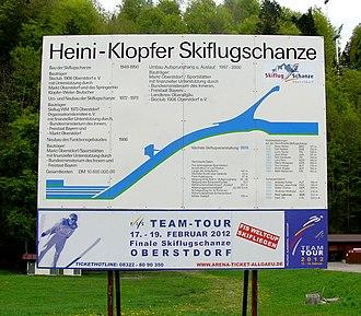 Heini-Klopfer-Skiflugschanze - Image: Heini Klopfer Skiflugschanze 01