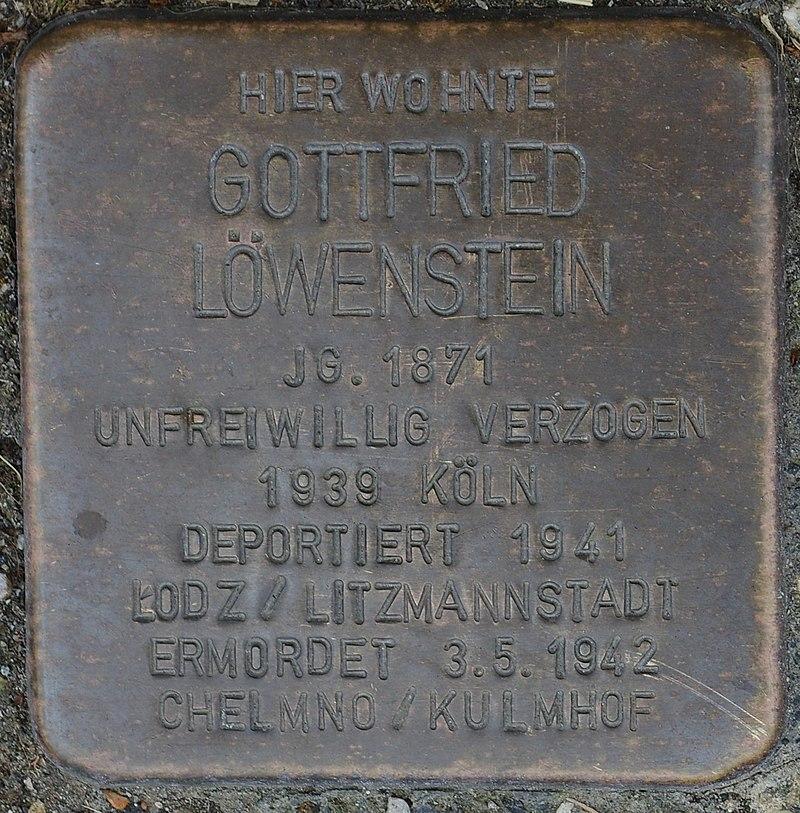 Hellenthal, Kölner Str. 66, Stolperstein für Gottfried Löwenstein.jpg