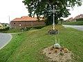 Herbelles (Pas-de-Calais, Fr) croix de chemin.JPG