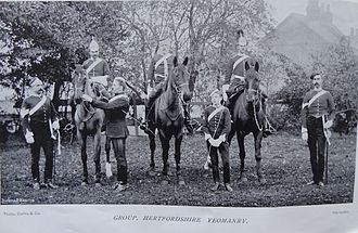 Hertfordshire Yeomanry - Hertfordshire Yeomanry in the 1890s.