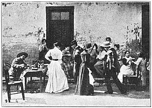 Dancing the cueca in 1906. Proclaimed Chile's official national folk dance since September 18, 1979