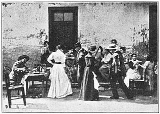 Cueca musical genre and folkloric dance of South America