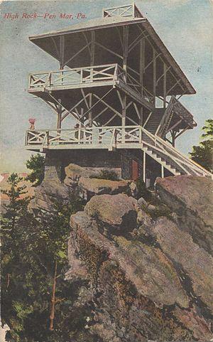 Pen Mar Park - High Rock, c. 1916