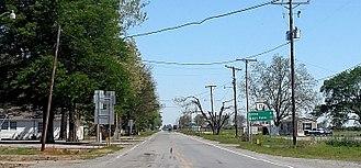 Arkansas Highway 13 - Highway 13 north of the US 165 junction in Humnoke