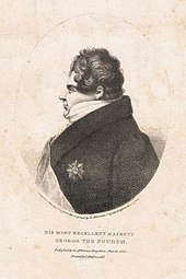 Lithograph of George IV in profile, by George Atkinson, printed by C. Hullmandel, 1821 (Source: Wikimedia)