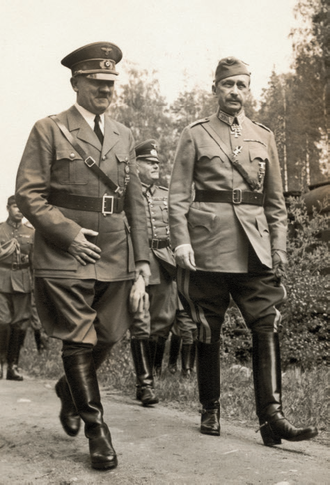 Fascist symbolism - Adolf Hitler in uniform.