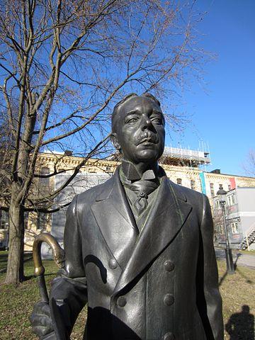 Памятник Сёдербергу в Стокгольме