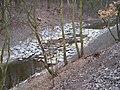 Hloubětín, Rokytka, dolní jez u Hořejšího rybníka.jpg