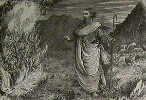 Moses and the Burning Bush, illustration from ...