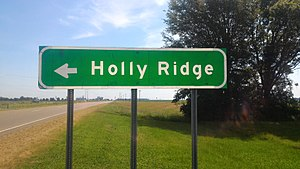Holly Ridge, Mississippi - Image: Holy Ridge MS Highway Sign