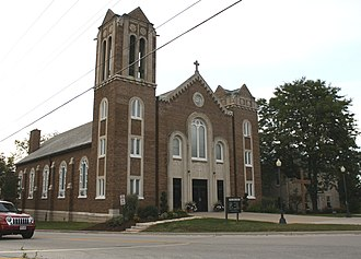 Holy Cross Church and Convent - Image: Holy Cross Church and Convent Bay Settlement Wisconsin