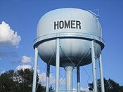 Homer, LA, water tower IMG 2668.JPG