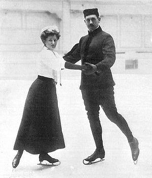 Heinrich Burger - Heinrich Burger skates with Anna Hübler