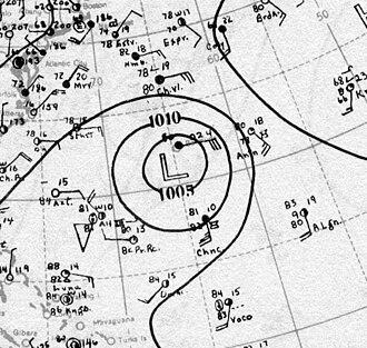 1930 Atlantic hurricane season - Image: Hurricane One Analysis 26 Sep 1930