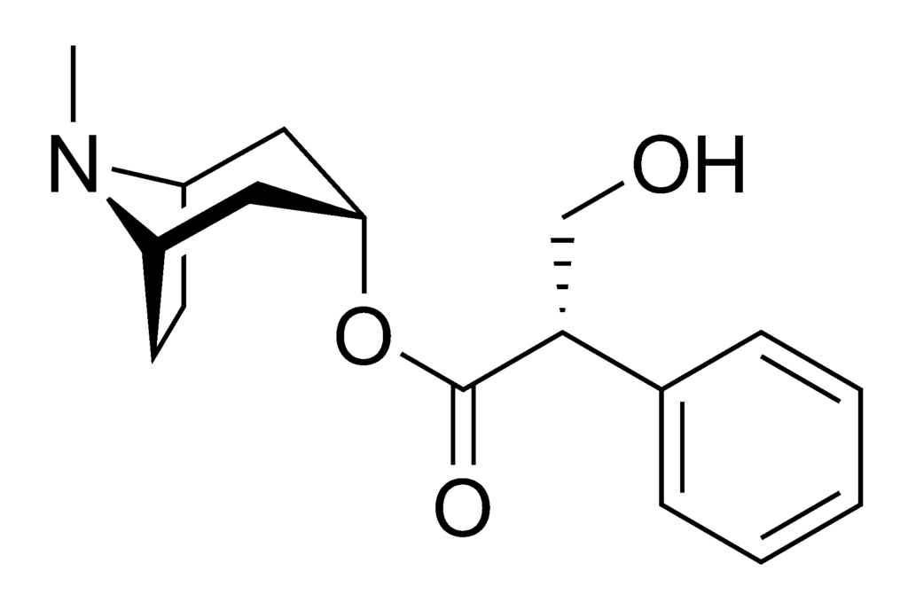 file:hyoscyamine chemical structure - wikimedia commons, Skeleton