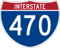Interstate 470 marker