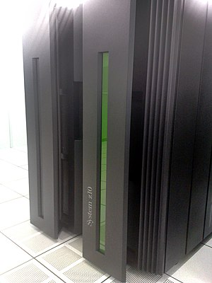 Z/OS - An IBM System Z10 mainframe computer on which z/OS can run.