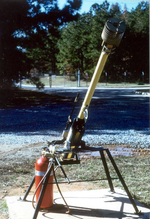 Robert C. Michelson - Indirect Fire Terminal Effects Cue pneumatic launcher developed by Michelson for US Army CDEC.