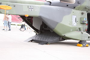 NHIndustries NH90 - The lowered rear cargo ramp of a German Army NH90