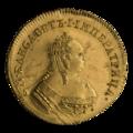 INC-915-a Андреевский червонец 1749 г. Елизавета Петровна (аверс).png