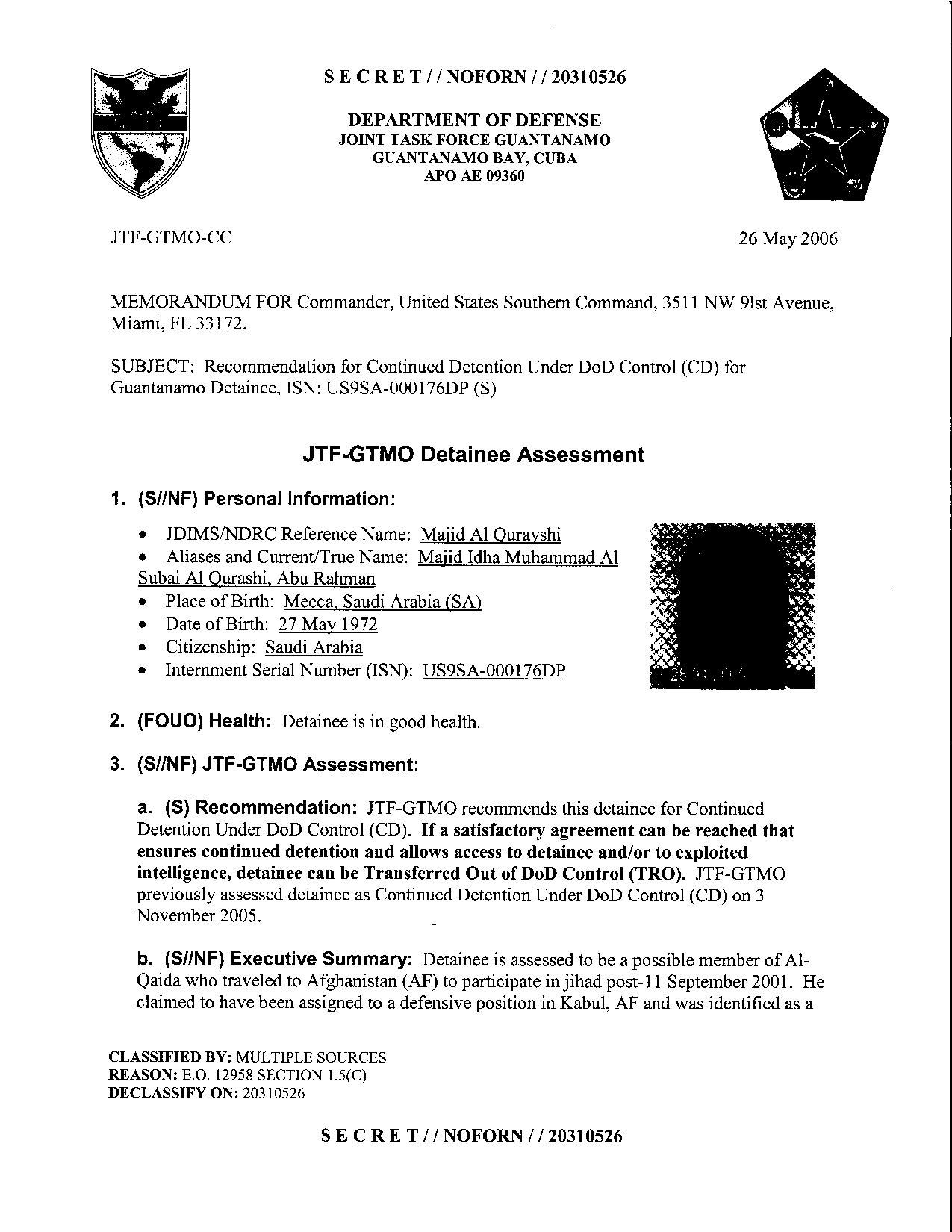ISN 176's Guantanamo detainee assessment.pdf