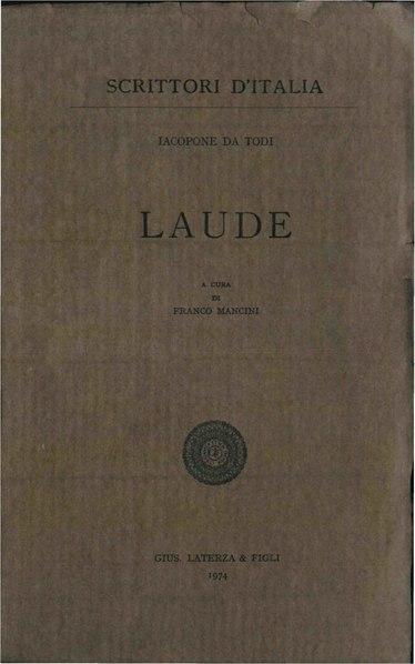 File:Iacopone da Todi – Laude, 1974 – BEIC 1851919.pdf
