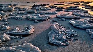 Ice field near the shore at sunset.jpg