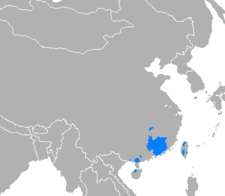Primary branch of Chinese originating in southern China