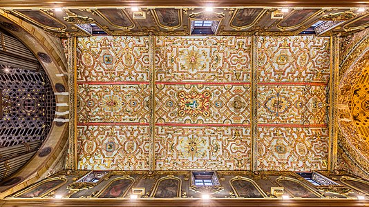Ceiling of the church and Monastery of St. Francis, Quito, Ecuador.