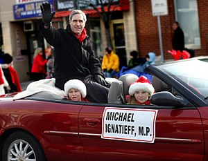 Michael Ignatieff at the Lakeshore Santa Claus...