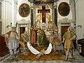 Il Santo Sepolcro allestito con i Cartelami (sagome di latta dipinte, usate in particolare in Liguria nel '7-800.JPG